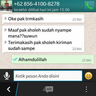 Pesan layanan aqiqah delanggu melalui whatsapp