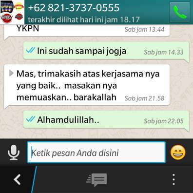 Pesan layanan aqiqah jogja melalui whatsapp