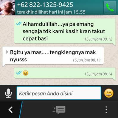 Pesan aqiqah solo melalui whatsapp ( WA )