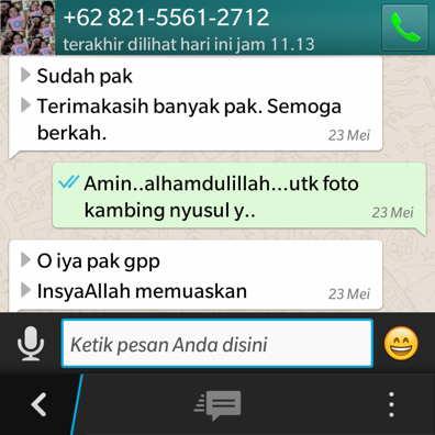 Pesan aqiqah karanganyar lewat whatsapp