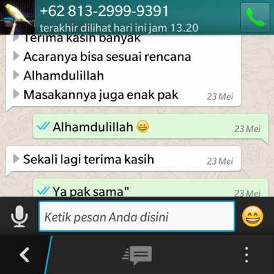Pesan aqiqah klaten lewat whatsapp ( W A )