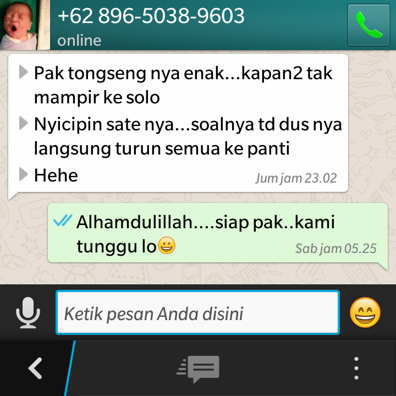 Pesan aqiqah sukoharjo menggunakan whatsapp ( W A )