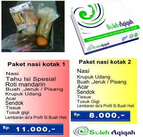 Daftar harga paket aqiqah nasi kotak atau box