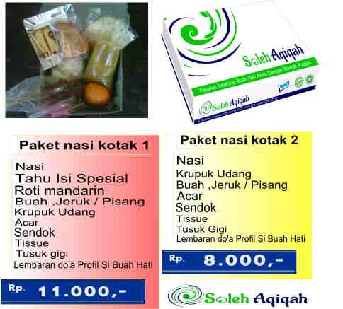 Paket yang kedua adalah paket nasi kotak